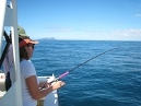 Wendy first time fishing off the Whangarei Coast